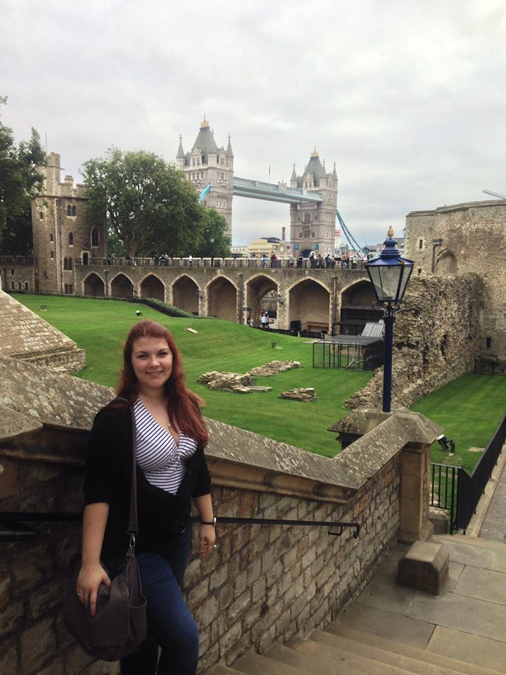 Rose in London on study abroad